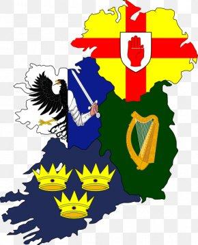 Flag - Ulster Leinster Connacht Four Provinces Flag Of Ireland Provinces Of Ireland PNG