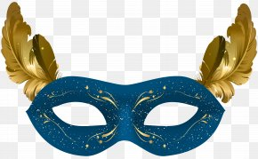 Blue Carnival Mask Clip Art - Mask Stanley Ipkiss Clip Art PNG