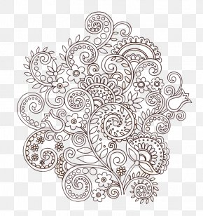 Twining Vine Flower Vector - Tattoo Mehndi Paisley Illustration PNG