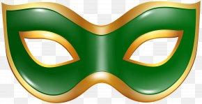 Carnival Mask Green Transparent Clip Art Image - Mask Carnival Clip Art PNG