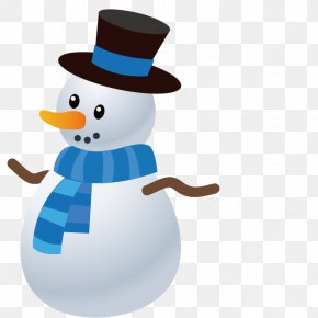 Vector White Snowman - Ded Moroz Snegurochka Christmas PNG