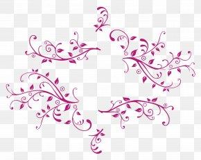 Floral Swirl - Flower Clip Art PNG