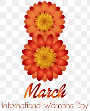 March 8th Happy Women's Day Transparent PNG Clip Art Image - International Women's Day March 8 Clip Art PNG