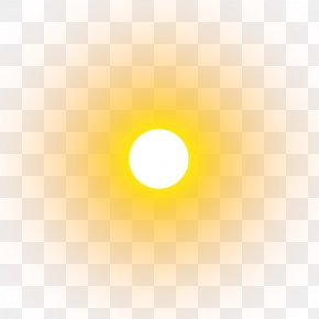 The Sun Rises In The East - Yellow Circle Wallpaper PNG
