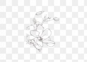 Artwork Flowers - White Black Body Piercing Jewellery Pattern PNG