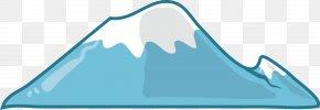 Cartoon Blue Snow Mountain Top - Snow Mountain Cartoon Drawing PNG