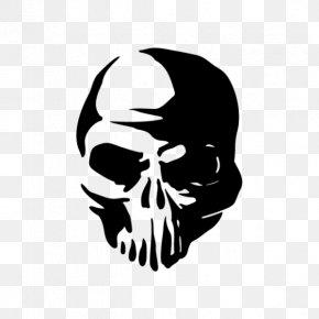 Skull - Wall Decal Sticker Human Skull Symbolism Adhesive Tape PNG