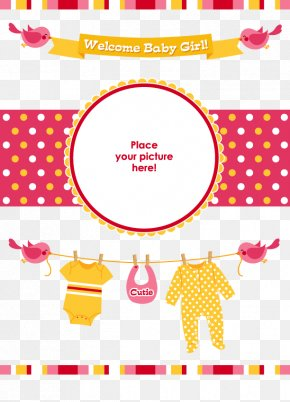 Welcome To The Little Girl's Arrival Vector Collection - Wedding Invitation Infant Aqiqah Baby Shower PNG
