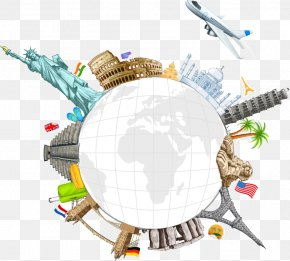 Creative Creative Earth's Surface Landmarks - World Travel Clip Art PNG