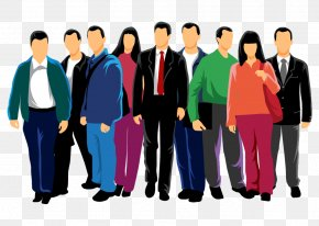 Vector Cartoon Characters Contour - Euclidean Vector People Crowd PNG