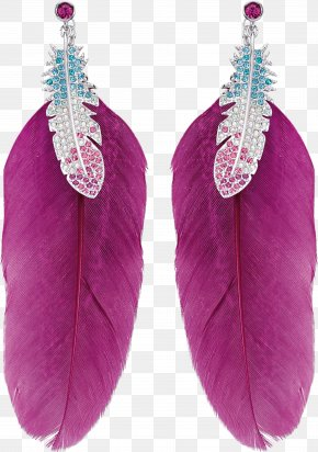Feather Earrings Image - Earring Swarovski AG Jewellery Pendant Necklace PNG