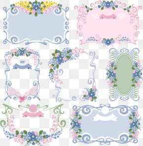 Small Fresh Flower Box Collection - Picture Frame Ornament Clip Art PNG