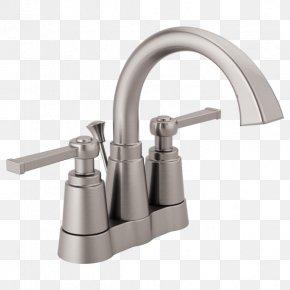 Bathtub Accessory - Tap Shower Bathtub Brushed Metal Bathroom PNG