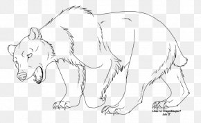 Bear - Bear Line Art Coloring Book Drawing Sketch PNG
