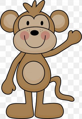 Baby Monkey - Computer Lab Data Clip Art PNG