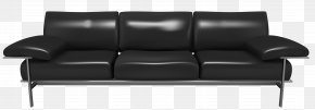 Transparent Black Couch Clipart - Couch Furniture Clip Art PNG