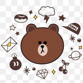 Brown Bear - Brown Bear Line Display Resolution Wallpaper PNG