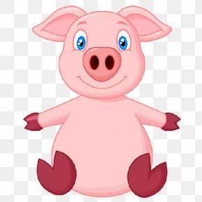 Cartoon Pig - Domestic Pig Cartoon Drawing Clip Art PNG