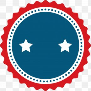 Circle Star Badge - Euclidean Vector Motif Pattern PNG