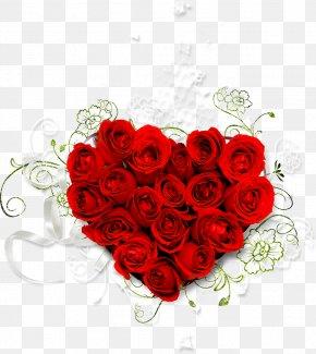 Sweet 16 - Rose Flower Bouquet Heart Clip Art PNG