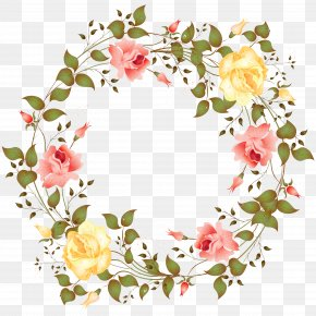 Rose Border - Rose Picture Frame Flower Clip Art PNG