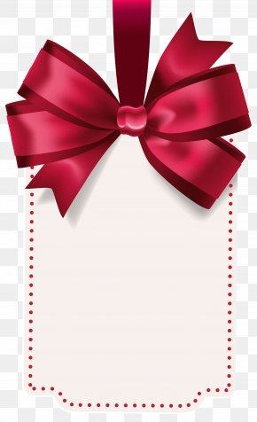 Label With Red Bow Template Clip Art Image - Bow And Arrow Clip Art PNG