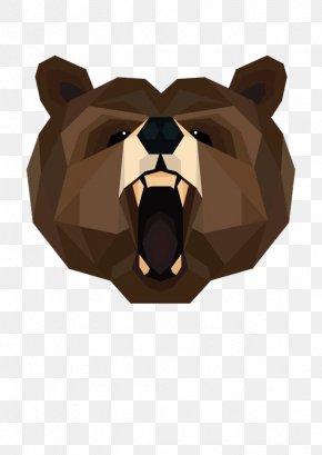 Brown Bear - Brown Bear Polar Bear American Black Bear Geometry PNG