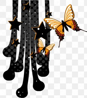 Abstract Geometry - Monarch Butterfly Geometric Shape Geometry PNG