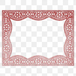 Minimal Frame - Rectangle Doily Picture Frames Die Pattern PNG