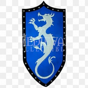 Western Painted - Shield Middle Ages Knight Dragon Viking Ships PNG