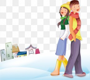 People Snow House - Significant Other Cartoon Romance Illustration PNG