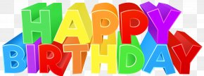 Happy Birthday Colorful Text Clip Art Image - Birthday Clip Art PNG