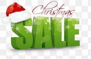 Vector Illustration Christmas Sales - Santa Claus Christmas Decoration Sales PNG