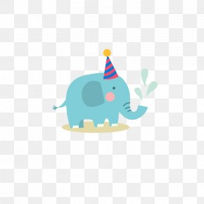 Blue Elephant Infant Welcome Party Sticker Vector - Elephant Euclidean Vector Adobe Illustrator PNG