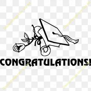 Congratulations - Graduation Ceremony Greeting Clip Art PNG