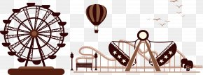 Amusement Park Rides - Amusement Park Silhouette Ferris Wheel PNG