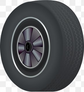 Grey Cartoon Car Wheel - Car Tire Wheel Clip Art PNG