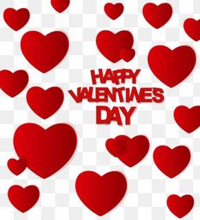 Happy Valentine's Day - Valentine's Day Heart Gift Clip Art PNG