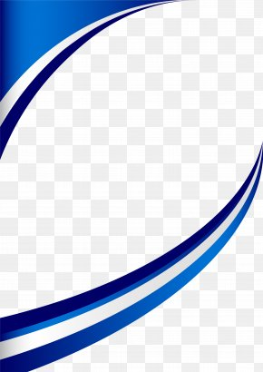 Blue Fresh Curve Border - Line Angle Point Structure Pattern PNG