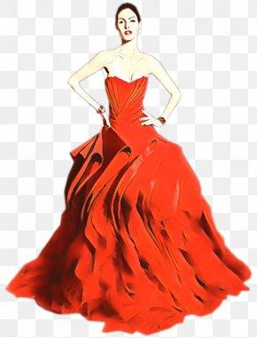 Cocktail Dress Peach - Wedding Illustration PNG