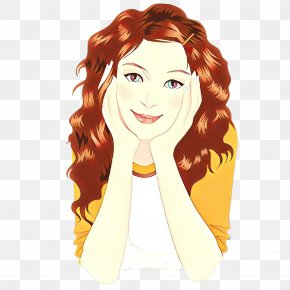 Brown Hair Costume - Hair Face Wig Hairstyle Cartoon PNG