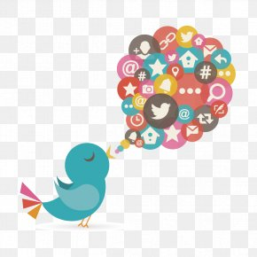 Creative Twitter Information Element - Bird Social Media Euclidean Vector Icon PNG