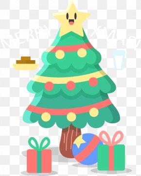 Cute Christmas Tree - Christmas Tree Christmas Gift Clip Art PNG
