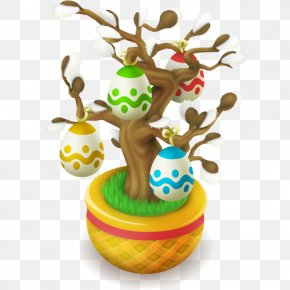 Easter - Hay Day Easter Bunny Easter Egg Tree PNG