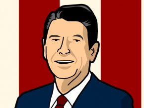 Reagan Cliparts - Ronald Reagan President Of The United States Clip Art PNG