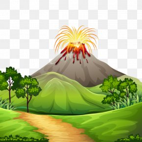 Vector Volcano Eruption - Volcano Lava Stock Photography Clip Art PNG