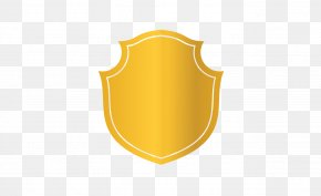 Golden Shield Gradient Vector - Yellow Pattern PNG