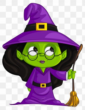 Purple Witch Clipart Image - Witchcraft Clip Art PNG