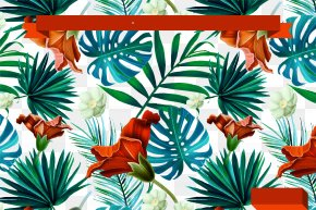 Tropical Leaf Decoration Vector - Flower Pattern PNG