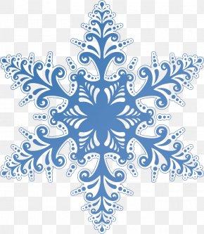 Blue Snowflake - Snowflake Clip Art PNG
